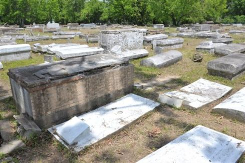 ...the cemetery looked like this when we finished.
