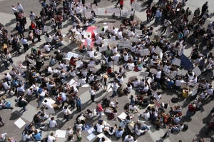 Demonstrators, April 4, 2007, BYU