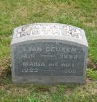 headstone of Increase Van Deusen