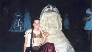Leia and Jabba - Mormon Halloween Dance