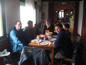 On Day 4 we stopped about 4 km outside of O Pedrouzo for a warm meal at a cafe in O Pino
