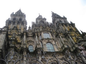 The amazing Cathedral of St. James at Santiago de Compostela