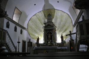 Scallop Shell background at the altar of St. Eulalia
