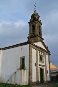The Church of Santa Eulalia in O Pedrouzo
