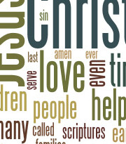 Wordle provided by Connor Boyack  @ http://connorboyack.com/ldsconf/apr13.html