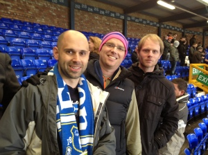 Scott, Ronan, & Aaron at Goodison Park