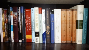 """The Mormon books on my """"Currently Reading or Recently Read"""" shelf."""