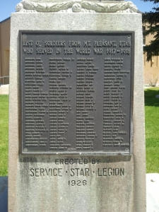Names of those who served from Mt. Pleasant