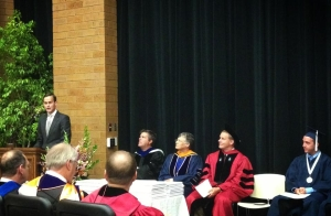 Delivering Alumni Convocation Address, August 2013