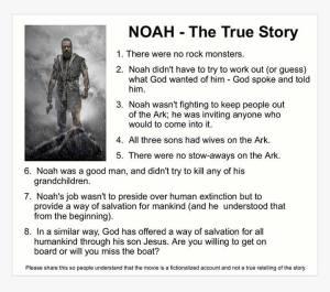 noah true story