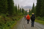 "Several pilgrims and an even longer road after our ""shortcut."""