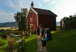 Our quarters for the night, a three-story farmhouse that has housed Norwegian royalty.