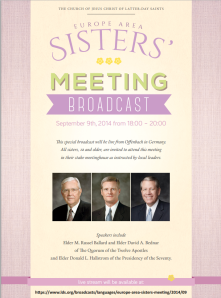 Sisters' Meeting Broadcast Flyer
