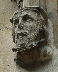 Sculpted Head of William Tyndale from St Dunstan-in-the-West Church, London (source: http://tinyurl.com/ltnqb84).*