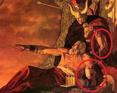 #9. Viking Helmet & Bandage Biceps