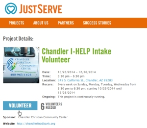 This is how easy it is to volunteer for a service project.