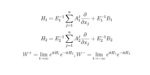 "H1 is ""your"" Hamiltonian, H2 is min. The Ws may take one trajectory and transform it to another."
