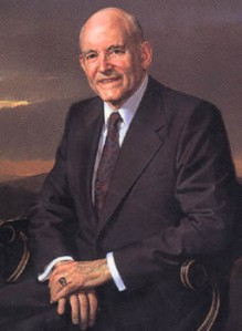Howard W. Hunter, November 14, 1907 – March 3, 1995 (source: http://tinyurl.com/nyepynv)