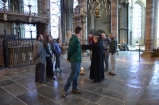 At the site of Becket's tomb, long since removed by Henry VIII.