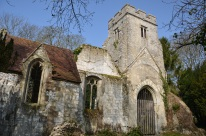 In the 1800s the Lord of the Manor built a lake less than a stone's throw away from this church. Soon it's chalk walls leeched water and became unstable. It's other claim to fame is the alleged tomb of Richrad III's illegitimate son.