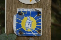 The first, and only, marker we saw for the Via Francigena