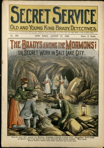 SecretService-BradysAmongMormons-issue239-1903Aug21-cover-shows-hooded-mormons
