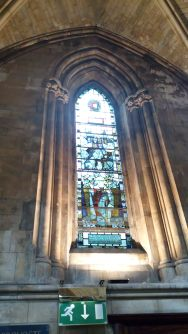 Chaucer window at Southwark cathedral