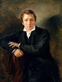 Heinrich Heine by Moritz Daniel Oppenheim, 1830 (source: http://tinyurl.com/peeqcv4)