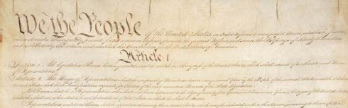 The Constitution of the United States of America (source: http://tinyurl.com/nv4ghw6)