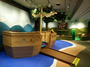 Kids' Area. Not sure why a boat. Roll with it, adults.