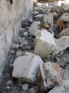 Stones of the Temple destruction--still present in Jerusalem (Image: Wikipedia)