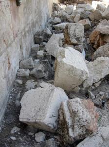 Stones of the Temple destruction--still present in Jerusalem (Image: Wikipedia)