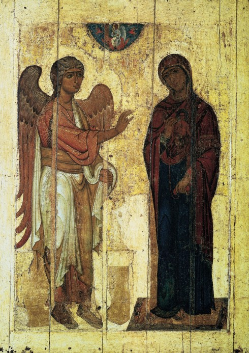 The Annunciation (Russian Icon of Ustyug)