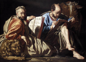Matthew and Luke. They didn't work together. Matthias Stom -1635