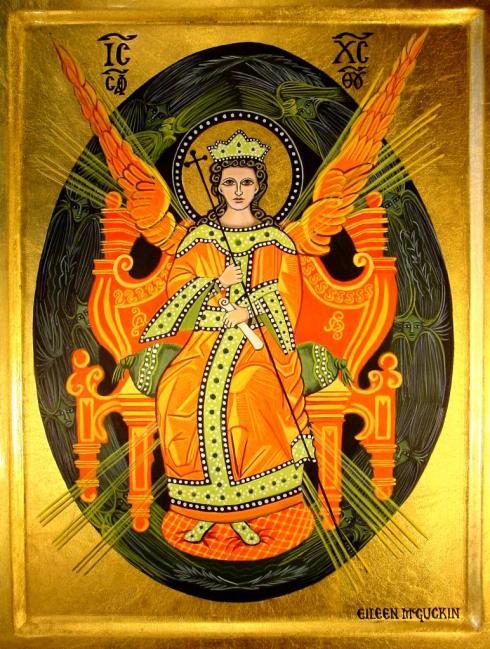 Sophia on Cherubic throne