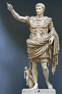 Augustus von Prima Porta (20-17 v. Chr.), aus der Villa Livia in Prima Porta, 1863. Augustus was a clever guy who worked the system. (Image: Wikipedia)