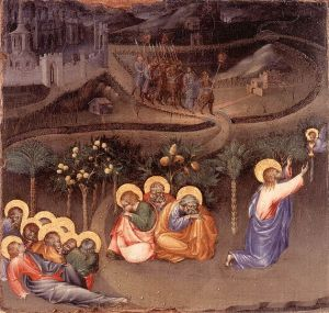 Paolo. Jesus and the apostles in Gethsemane.