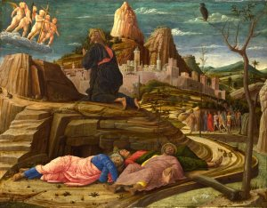 Mantegna: Agony in the Garden. (Image: Wikipedia)