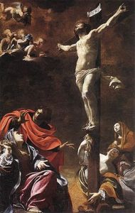 The Crucifixion, Simon Vouet, 1622. (Image: Wikipedia) Note the influence of John's Gospel.