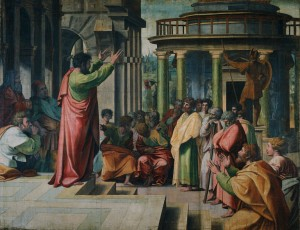 Raphael: Paul preaching at Athens.