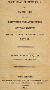 Paley's Text on Natural Philosophy. Hume is the unread antidote of the time. But he was too scary.