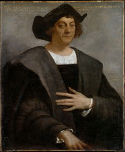 Posthumous portrait of Christopher Columbus by Sebastiano del Piombo, 1519 (source: http://tinyurl.com/zrkzztj)