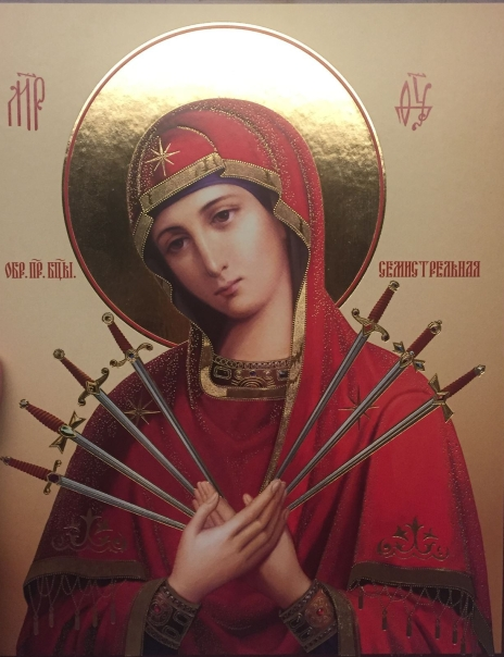 Mary with Seven Swords